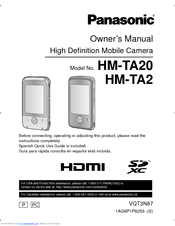 Panasonic HM-TA20 Owner's Manual