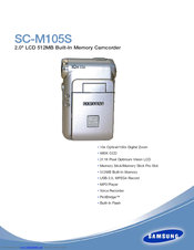Samsung SC-M105S Specifications
