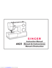 Singer 4423 Instruction Manual & Cooking Manual
