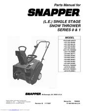 Snapper LE3170E (80488) Parts Manual