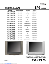 Sony KV-32FS120 - FD Trinitron WEGA Flat-Screen CRT TV Service Manual