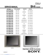 sony kv 27fs320 service manual pdf download rh manualslib com sony trinitron service manual sony trinitron manual tv