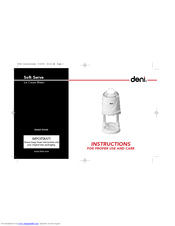 Deni 5540 Instructions For Proper Use And Care Manual