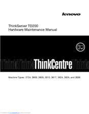 Lenovo ThinkServer TD200 Hardware Maintenance Manual