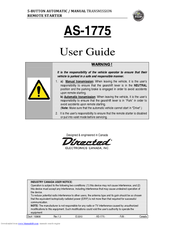 Directed Electronics AS-1775 User Manual
