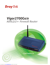 Draytek Vigor2700Ge / Vigor2700e Drivers Download Free