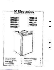 electrolux rm2262 manuals rh manualslib com Electrolux Refrigerator Replacement Parts Electrolux Refrigerator Freezer
