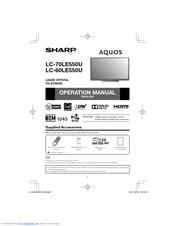 Sharp AQUOS LC-70LE550U Operation Manual