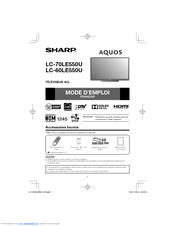 Sharp AQUOS LC-70LE550U Manuel Du Propriétaire
