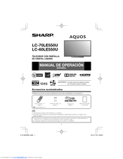 Sharp AQUOS LC-70LE550U Manual De Operación