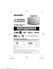 Sharp AQUOS LC-70LE550U Manual De Operación