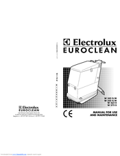 Electrolux Euroclean W 375 B Manual For Use And Maintenance