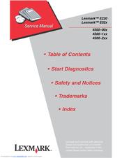 Lexmark e322 manuals.