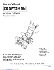 craftsman 179cc snowblower manual
