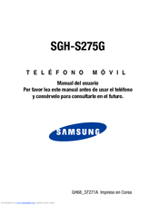 Samsung SGH-S275G Manual Del Usuario