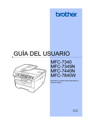 Brother MFC-7840W Guía Del Usuario