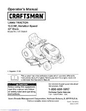 Craftsman Lt2000 Manuals Manualslib