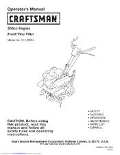 craftsman 247 29934 manuals rh manualslib com craftsman rototiller manual 5hp craftsman tiller manuals