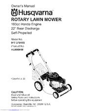 husqvarna hu800hw owner s manuals rh manualslib com husqvarna lawn mower owner's manual husqvarna lawn mowers owners manual yth22v46