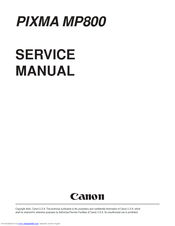 Canon mp800 pixma color inkjet service manual pdf download.