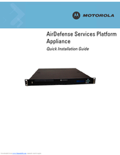 Motorola SV-4250-P-1 - AirDefense Enterprise Appliance 4250 Quick Installation Manual