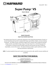 hayward super pump� vs owner\u0027s manual pdf download Hayward Super Pump SP2607X10 Hayward Super Pump Manual #19