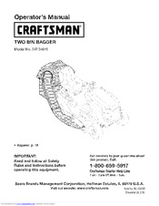 Craftsman 247.24019 Operator's Manual
