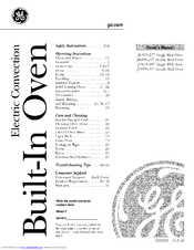 GE JT915 Owner's Manual