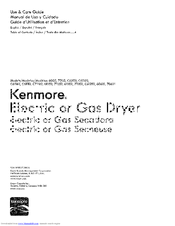 Kenmore 70621 Use & Care Manual
