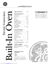 GE JK915 Owner's Manual