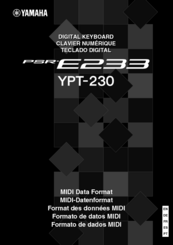 Yamaha YPT-230 Data List