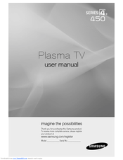 samsung pn42c450b1d manuals rh manualslib com Samsung Plasma TV Model PN51D490A1D Samsung 42 LED TV