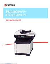 KYOCERA ECOSYS FS-C2126MFP+ MFP PC-FAX TREIBER WINDOWS XP