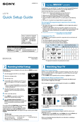 Sony Bravia LCD TV Quick Setup Manual