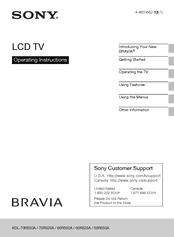 Sony KDL-50R550A Operating Instructions Manual