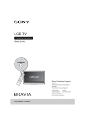 SONY XBR-55X900A OPERATING INSTRUCTIONS MANUAL Pdf Download