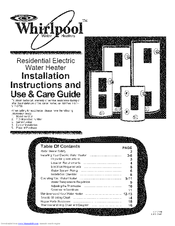 Whirlpool E2F40LD045V Installation And Use Manual