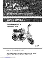 baja motorsports db30 mini bike manuals rh manualslib com baja viper mini bike manual baja racer mini bike manual