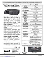 Sanyo Plc Wxu30a 3700 Lumens Manuals