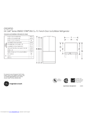 GE CFE29TSDSS Dimensions And Installation Information