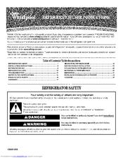 Whirlpool Gold Gi5fsaxvy Manuals