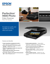 epson perfection v600 photo manuals rh manualslib com epson perfection v600 user guide epson perfection v600 photo owner's manual