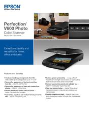 epson perfection v600 photo manuals rh manualslib com Epson Perfection V600 Photo Review HS Code Epson Perfection V600