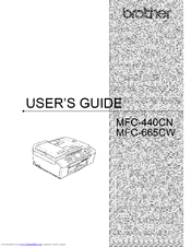 Brother MFC-440CW User Manual