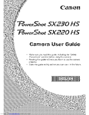 Canon sx220 hs manual pdf