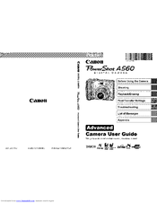 canon powershot a560 manuals rh manualslib com canon powershot a560 advanced manual canon powershot a560 service manual