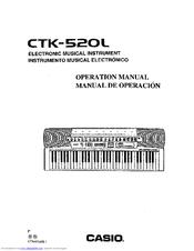 casio ctk 520l operation manual pdf download rh manualslib com Casio CTK- 551 Casio Ctk 541