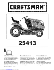 Craftsman 25413 Instruction Manual
