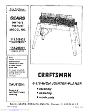 Craftsman 113.206932 Owner's Manual