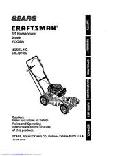 craftsman 536 797460 owner s manual pdf download rh manualslib com Craftsman Edger Trimmer 4.0 HP Craftsman Gas Edger